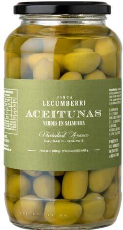 Aceitunas verdes en salmuera  FINCA LECUMBERRI