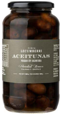 Aceitunas negras en salmuera  FINCA LECUMBERRI