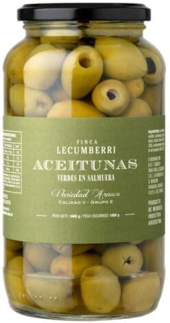 aceitunas verdes DESCAROZADAS /  FINCA LECUMBERRI