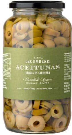 aceituna verdes EN RODAJAS / FINCA LECUMBERRI
