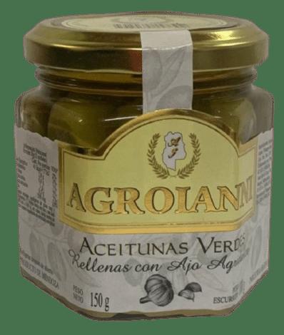 Aceitunas verdes rellenas con AJO AGRIDULCE