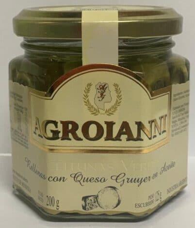Aceitunas verdes rellenas con QUESO GRUYERE EN ACEITE