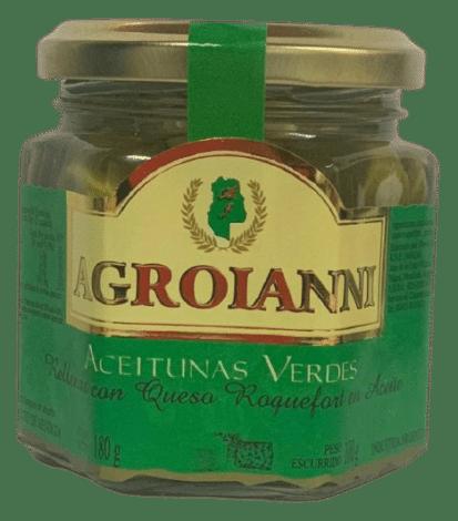 Aceitunas verdes rellenas con QUESO ROQUEFORT EN ACEITE