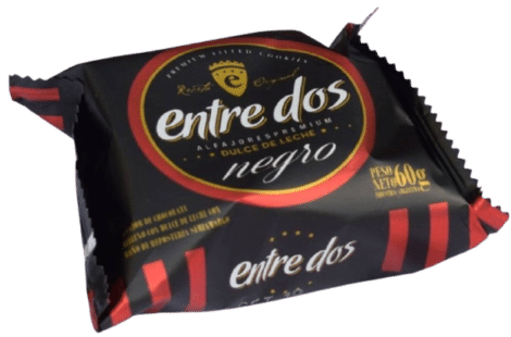 de Chocolate NEGRO con dulce de leche x caja de 12 uni de 60gr c/u